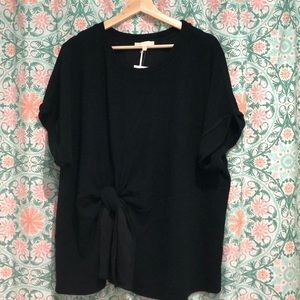 NWT Nordstrom & Layered Black Top Blouse